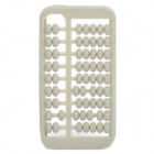 Unique Abacus Style Protective Silicone Case for Iphone 4 / 4S - Grey