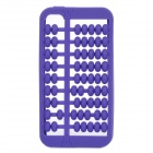 Unique Abacus Style Protective Silicone Case for Iphone 4 / 4S - Purple