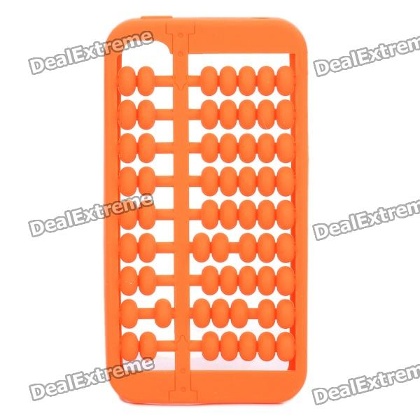 Unique Abacus Style Protective Silicone Case for Iphone 4 / 4S - Orange