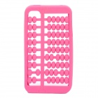 Unique Abacus Style Protective Silicone Case for Iphone 4 / 4S - Deep Pink