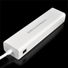 USB 1.1 10/100Mbps Ethernet + 3-USB 2.0 Ports HUB Adapter - White (10cm)