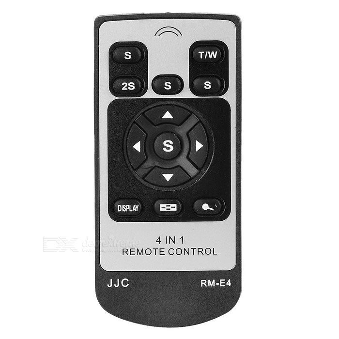 JJC Card Style Compact IR Remote for Pentax/Canon/Nikon Cameras (E4) wired remote shutter release for canon eos30 eos33 pentax samsung more