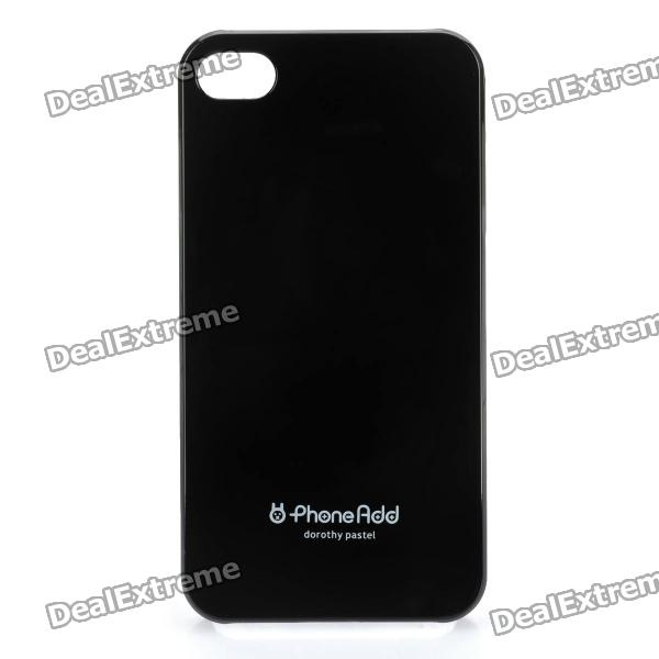 Stylish Protective PC Back Case with Screen Protector for Iphone 4 / 4S - Black stylish 3d death reaper pattern protective abs pc pet back case for iphone 4 4s black