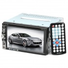 "6.5"" Touch Screen 2 Din Car DVD Player with Bluetooth / FM / AM / Analog TV / Remote Control - Black"