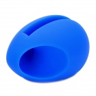 Egg Shaped Silicone Stand Audio Amplifier for Iphone 4 / 4S - Blue