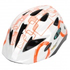 Cool Sports Cycling Helmet - White + Orange