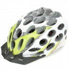 Honeycomb Style Cool Sports Cycling Helmet - White + Green + Grey + Black (Size-L)