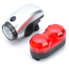 Bicycle 2-Mode 5-LED Head White Light + 3-Mode 3-LED Tail Red Light Set (3 x AAA / 2 x AAA)