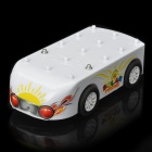 Multi-Purpose Educational AA Battery/Solar Powered DIY Car Toy - White + Yellow + Green + Red