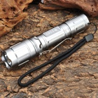 NEW-A20B Cree XR-E Q5 370LM 3-Mode LED Tactical Flashlight w/ Battery & Charger - Silver (1 x 18650)