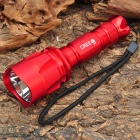 NEW-C11B Cree XR-E Q5 370LM 5-Mode White LED Flashlight w/ Battery & Charger - Red (1 x 18650)