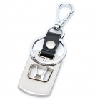 Stylish Honda Car Logo Zinc Alloy Keychain with Buckle - Silver + Black