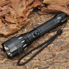 NEW-806B Cree XR-E Q3 200LM 3-Mode White LED Flashlight w/ 2 x 18650 / Car Charger / Power Adapter