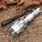 NEW-C11B Cree XR-E Q5 370LM 5-Mode White LED Flashlight w/ Battery Charger - Silver (1 x 18650)