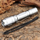 NEW-A20A Cree XR-E Q5 370LM 3-Mode White LED Tactical Flashlight - Silver - w/ Battery (1 x 18650)