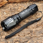 NEW-S06C Cree XM-L T6 5-Mode 800LM White LED Zoom Convex Lens Flashlight w/ Strap (1 x 18650)