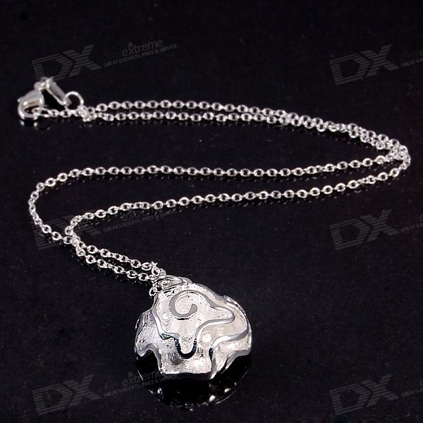 925 Silver Plated Flower Pendant with Necklace