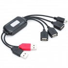 USB 2.0 4-портовый концентратор с Splitter Cable - Black (18см)