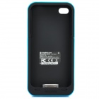 2000mAh External Battery Back Case for iPhone 4 / 4S - Blue