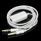 iPhone Headset to Computer Laptop Microphone Audio Adapter - White