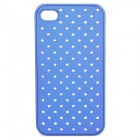 Elegant Crystal Protective PU Plastic Back Case for Iphone 4 / 4S - Blue