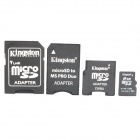 Genuine Kingston TF / Micro SD Memory Card w/ SD / MS PRO Duo / Mini SD Adapter (2GB)