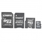 Original Kingston TF / Micro SD-Speicherkarte w / SD / MS PRO Duo / Mini-SD-Adapter (Klasse 4/4 GB)