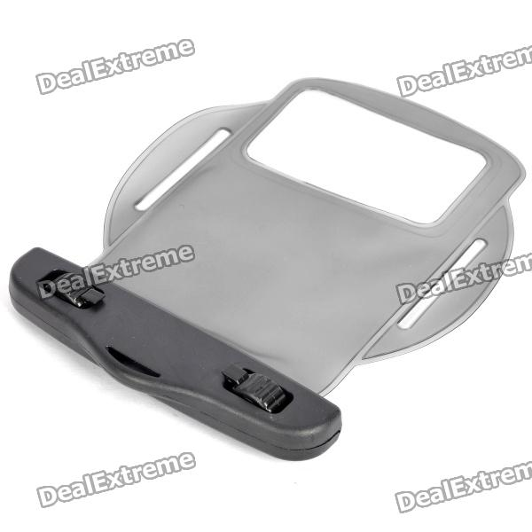 Waterproof PVC Bag Case w/ Strap / Armband for Cell Phone + More - Transparent Black