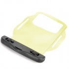 Waterproof PVC Bag Case w/ Strap / Armband for Cell Phone + More - Transparent Yellow