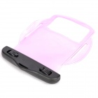 Waterproof PVC Bag Case w/ Strap / Armband for Cell Phone + More - Transparent Purple