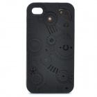 Protective Anaglyph Gear Image Style Silicone Case with Screen Protector for iPhone 4 / 4S - Black