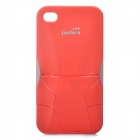 Stylish ProtectiProtective Podera ABS Plastic Case with Stand Holder for iPhone 4 / 4S - Red