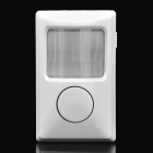 Wireless IR Electronic Dog Home House Security Alarm - White (4 x AAA)