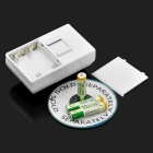 Wireless IR Electronic Home House Security Alarm - White (4 x AAA)