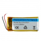Replacement 3.7V 100mAh Li-ion Polymer Battery for iPod Nano 6