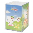 "5 ""Photo Cube Coin Bank - Transparent"