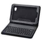 80-Key Rechargeable Bluetooth Keyboard Leather Case for Samsung P6200 Galaxy Tab 7.0 Plus