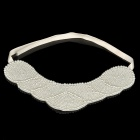 Fashion Imitation Pearls Collar (White)