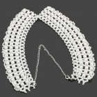 Elegant Imitation Pearls Collar Necklace - White