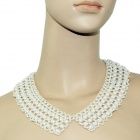 Elegant Pearl Style s Collar Necklace - White