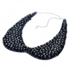 Fashion Crystals Collar Necklace (Black)