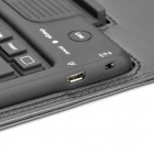 Waterproof 82-Key Wireless Bluetooth V3.0 Keyboard w/ PU Leather Case for iPad 2 / the New iPad