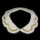 Elegant Imitation Pearls Collar Necklace (White)