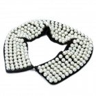 Elegant Imitation Pearls Collar Necklace - Black + White