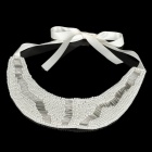 Elegant Imitation Pearls Collar (White)