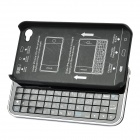 Rechargeable Bluetooth 50-Key QWERTY Keyboard Hard Case for iPhone 4 / 4S - Black