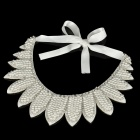 Elegant Imitation Pearls Collar - White