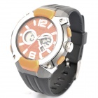 OTAGE Sports Waterproof Dual Time Display Wrist Watch w/ Alarm / Stopwatch - Orange (1 x SR626)
