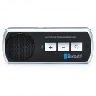 Portable Rechargeable Bluetooth V3.0+EDR Cell Phone Handsfree Speaker Car Kit - Black