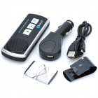 recarregável V3.0 Bluetooth + handsfree car kit alto-falante EDR - preto